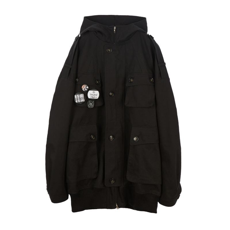 [SUNDAY OFF CLUB : 선데이 오프 클럽] Utility Multi Button Pockets with Badges M-65 Parka