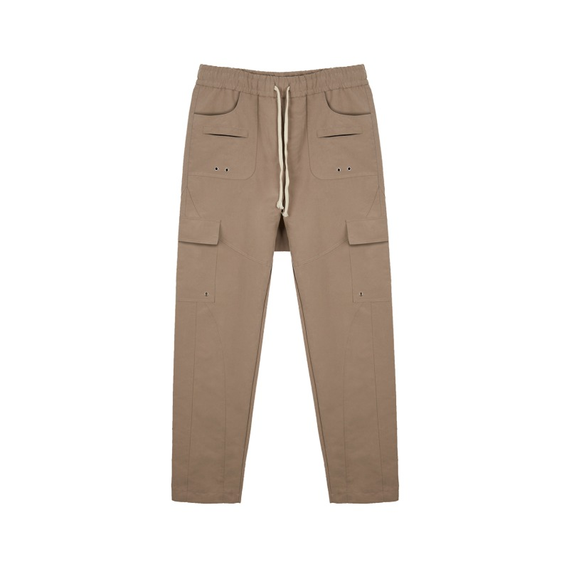 [SUNDAY OFF CLUB : 선데이 오프 클럽] Multi Structural Pattern Cargo Pocket Pants Beige