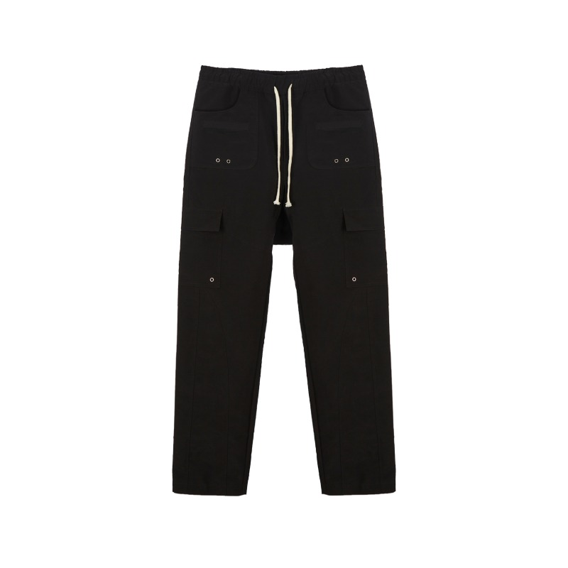 [SUNDAY OFF CLUB : 선데이 오프 클럽] Multi Structural Pattern Cargo Pocket Pants Black
