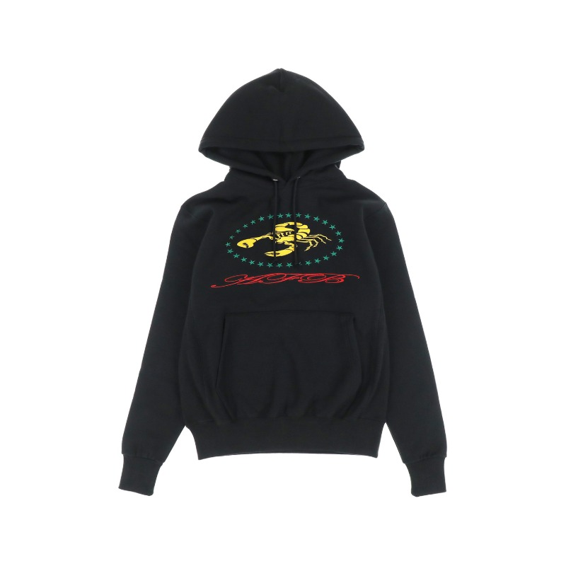 [AFB : 에이에프비] SCORPION Artwork Embroidery Side Rib Detail Hoodie Black